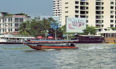 La rivière Chao Phraya. Photo : Clémence Cluzel