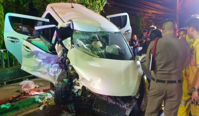 Accident sur une route thaïlandaise