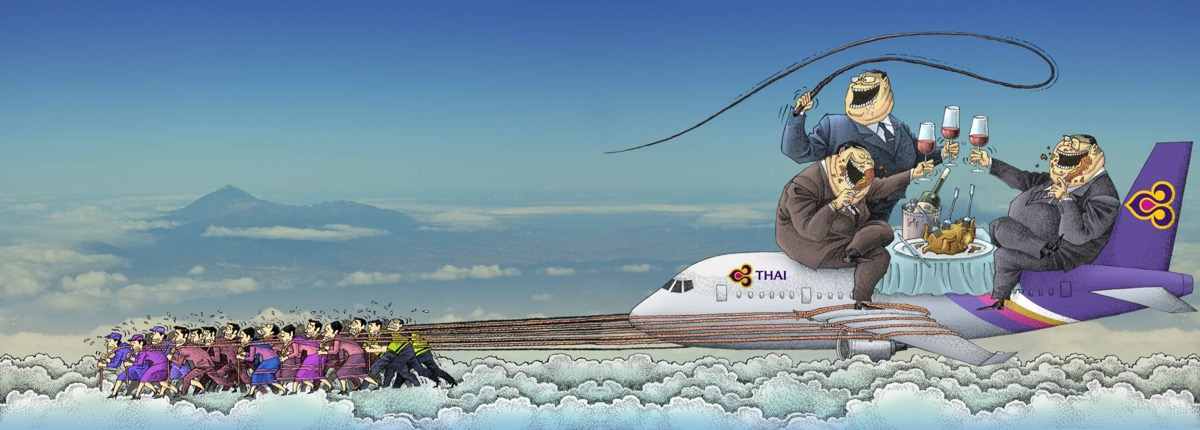 Thai Airways cartoon