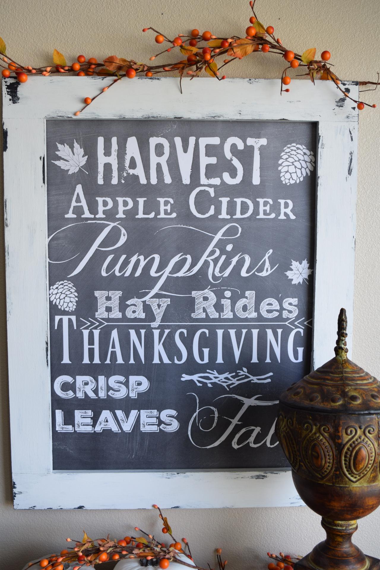 Harvest/Fall Chalkboard sign