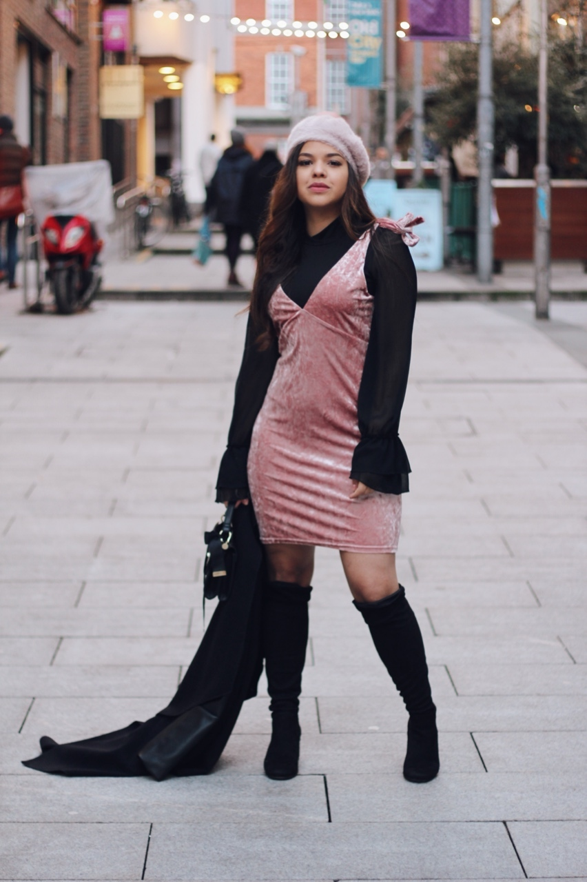 over the knee boots outfit ideas winter