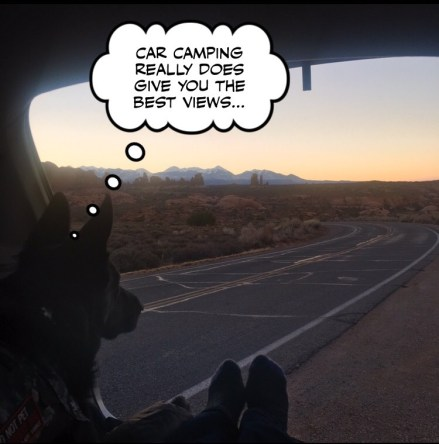how-i-turned-my-suv-car-into-a-camper-with-easy-instructions-and-video-toyota-highlander-hybrid-comic-service-dog-arches-national-park