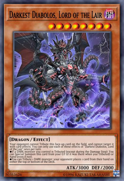 Darkest Diabolos, Lord of the Lair - Card Information | Yu-Gi-Oh ...