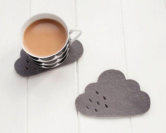 Soucoupe de tasses en forme de nuage