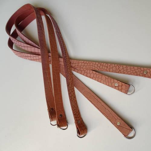 sac cuir souple 94cmx2cm