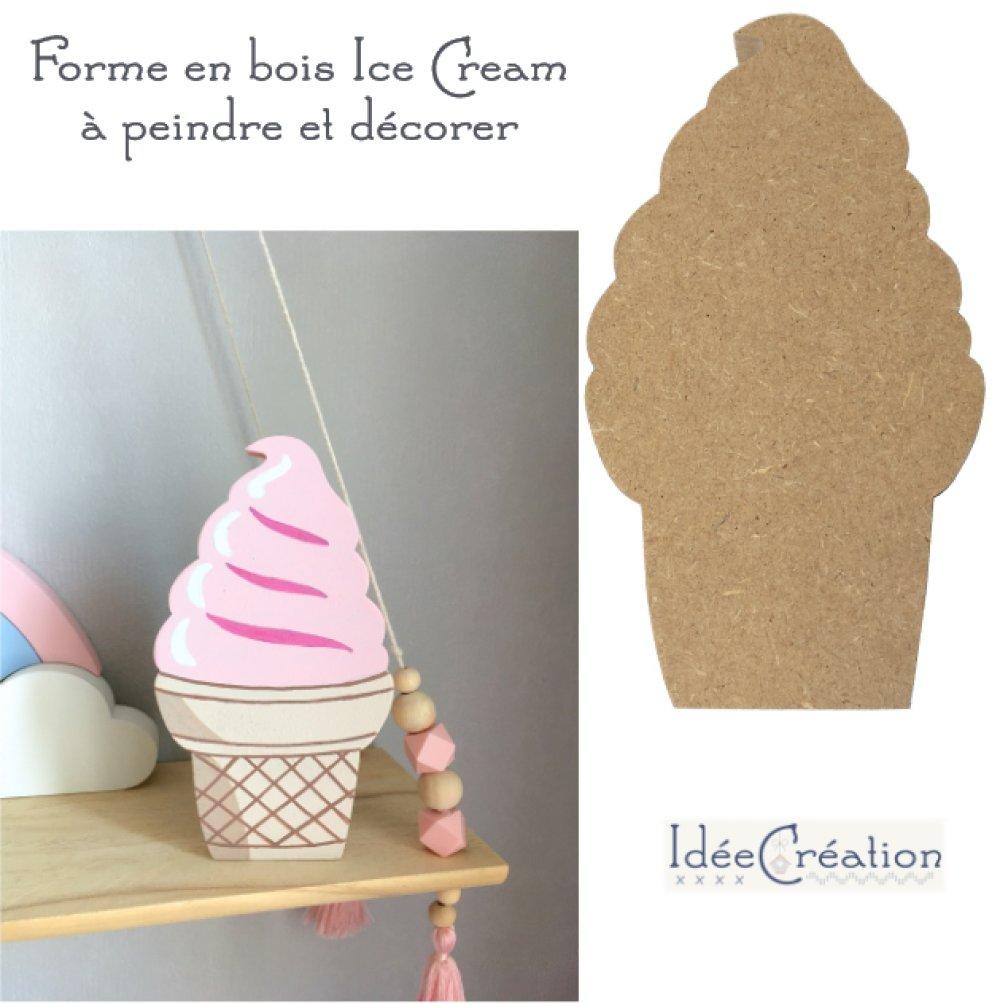 forme ice cream en bois mdf brut