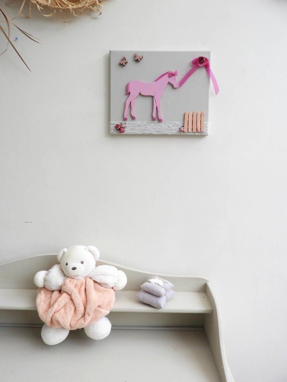 decoration chambre fille tableau