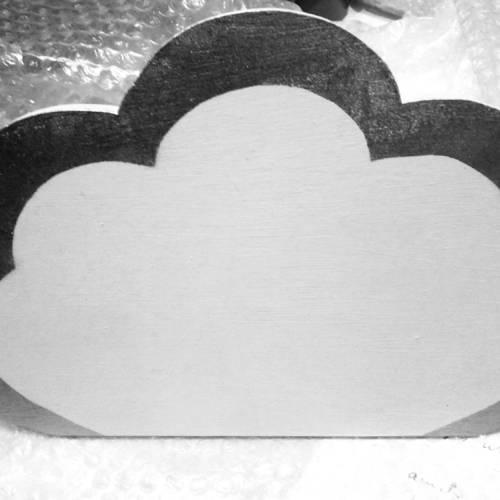 applique murale enfant bois nuage tout