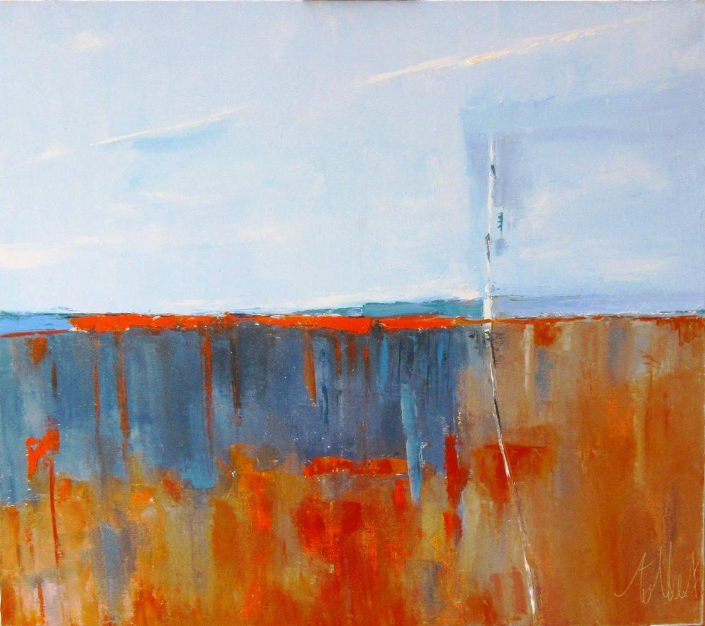 Phases Lumineuses Peinture Abstraite Au Couteau A L Huile Sur Toile De Lin Un Grand Marche