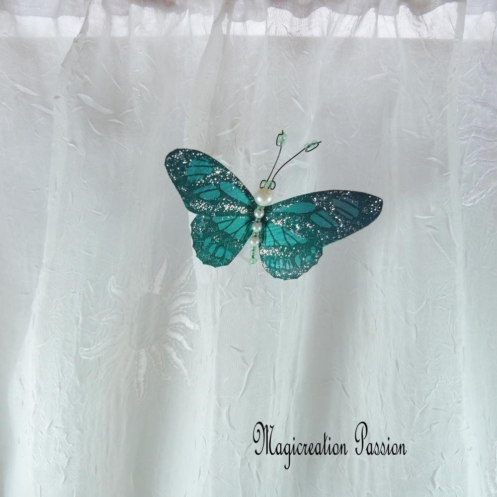 magnet papillon soie decoration 8 5 cm