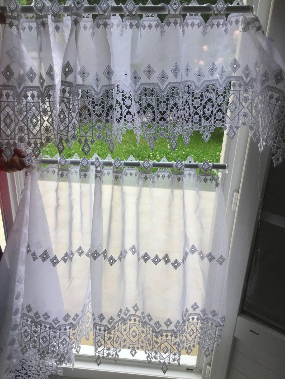 brise bise rideaux avec dentelle