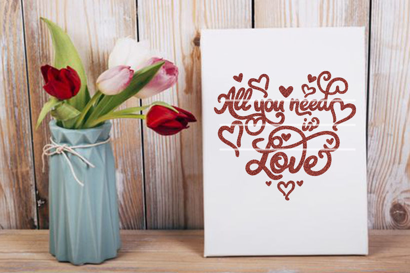 Download All You need is love SVG DXF Plotterdatei