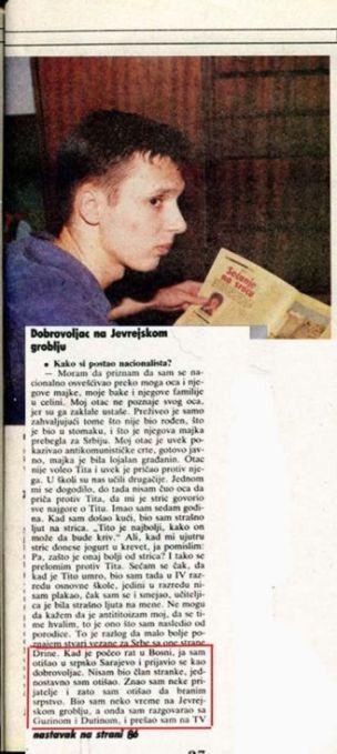 Vučićevo priznanje da je bio na Jevrejskom groblju kao dobrovoljac - undefined