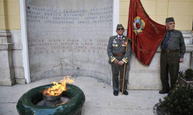 Foto: Anadolija/Vječna vatra, jedan od simbola antifašizma u Sarajevu