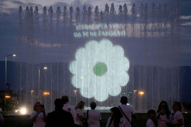 Foto: AA/Srebrenički cvijet u Zagrebu