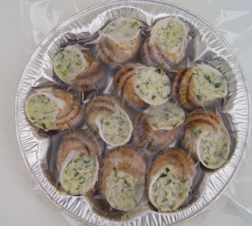 assiette de 12 escargots a la bourguigonne
