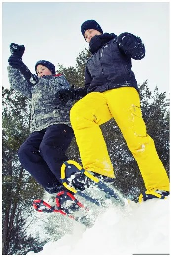 Having fun in the snow at Ontario Parks. (Ontario Parks photo)