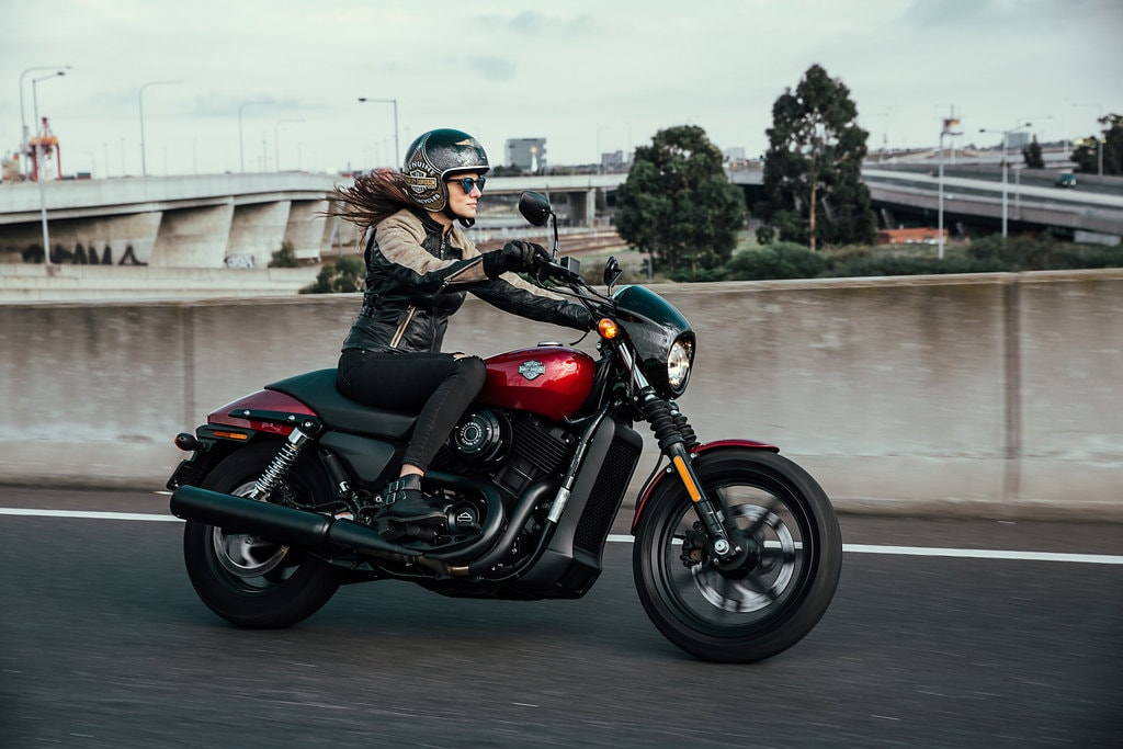 Another Urban Adventure // Melbourne (VIC), Henry Brydon, motorbike, leather, helmet, rider, road, bridge, woman, hair, wind, speed