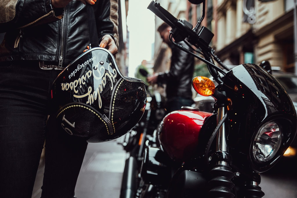Another Urban Adventure // Melbourne (VIC), Henry Brydon, motorbike, leather, helmet, street, city