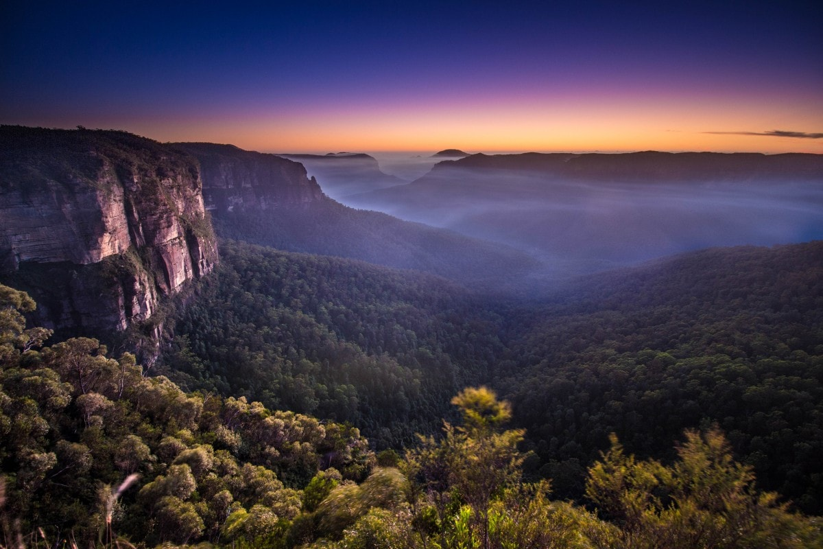 Rachel Dimond Govett's Leap Blue Mountains NSW sunrise