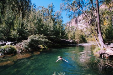 Carnarvon Gorge Queensland Jade Stephens, swimming hole, wild swimming, bush