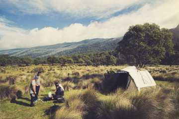 Spontaneity Capital of Australia Jindabyne NSW Aron Hailey, tent, campers, mountain view
