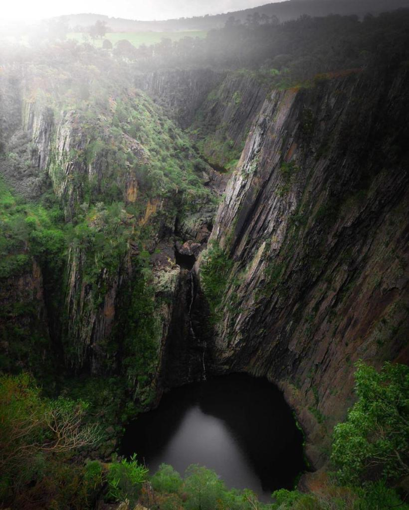 Just another epic hidden waterfall in Australia Shot by explorerhellip
