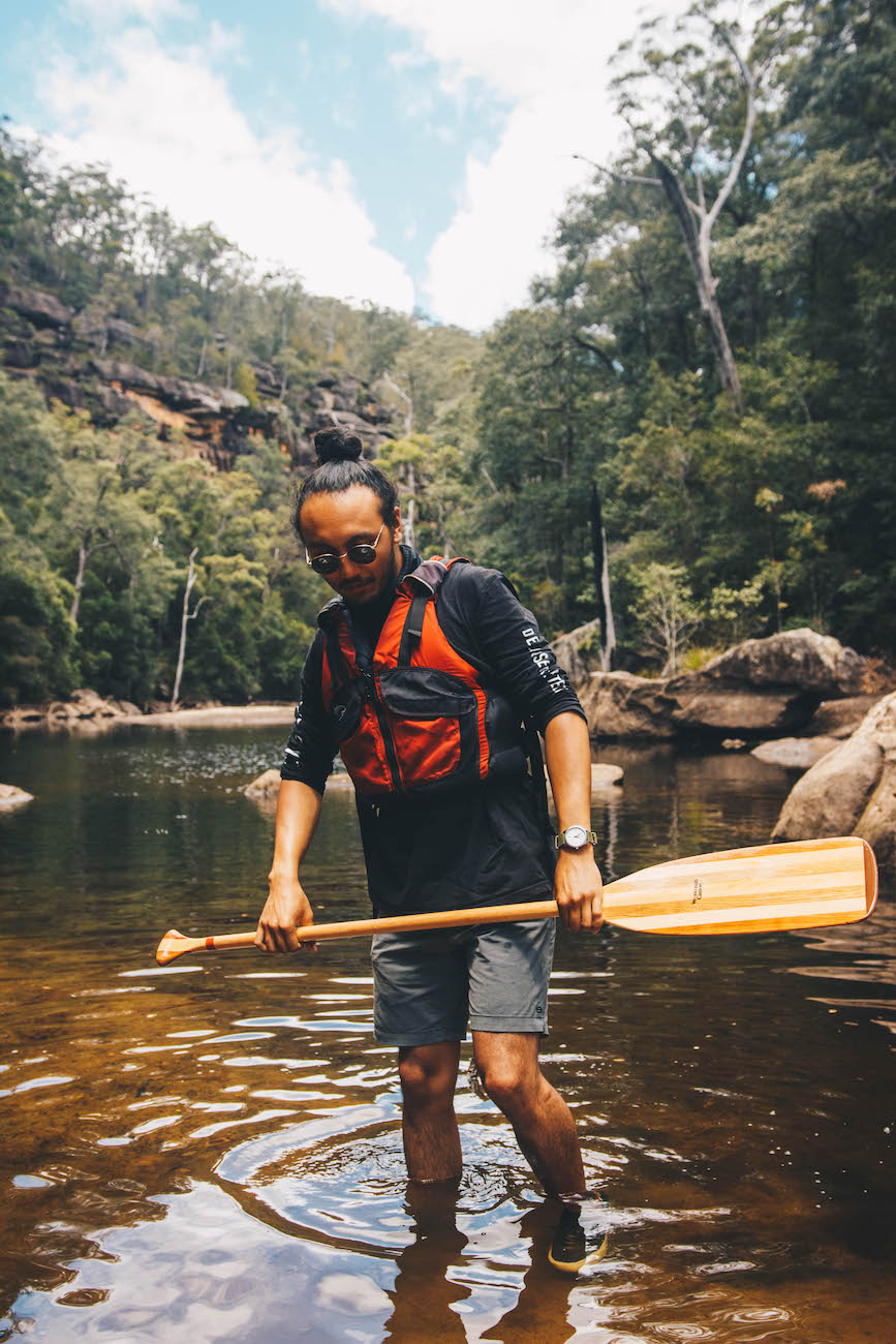 aron hailey, adrian mascenon on the canoe wilderness escape, explorer of the month, kangaroo valley, nsw, paddle