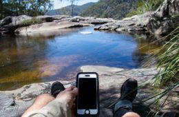 Pelican Marine Phone Case // Gear Review Dan Parkes, legs, boots, swimming hole