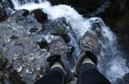 What To Pack For A Marathon Hike Lisa Owen, waterfall, cascade, boots, feet, rocks, header