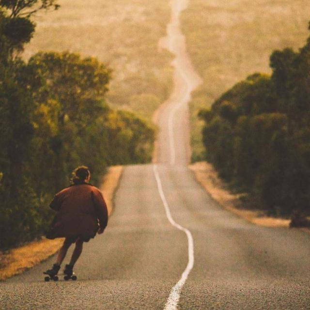 Skating the snaking roads of Kangaroo Island Shot by mitchcoxhellip