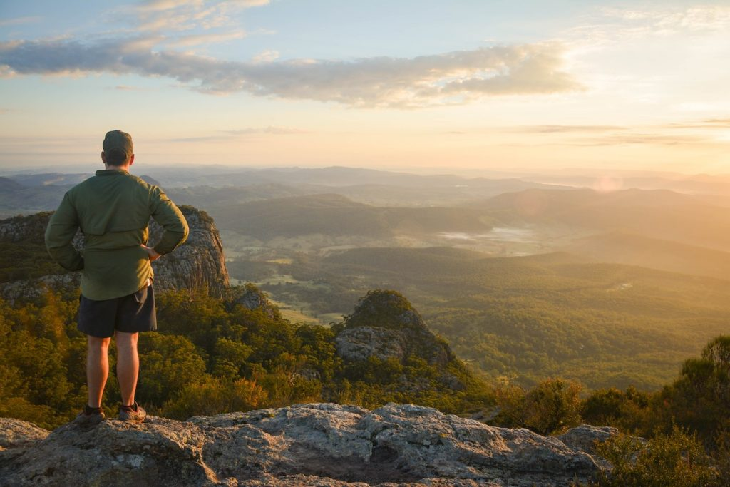 The 5 Best Sunrise Spots Near Brisbane, Lisa Owen, Hike Mt Maroon Lookout, person, dawn, view, peaks