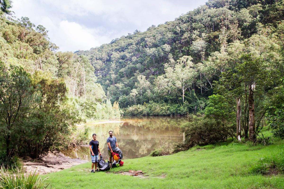 daniel bos, packrafting the colo river, blue mountains, nsw