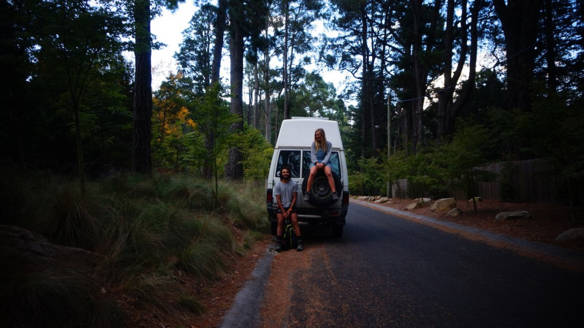 Troopy Travels // Chasing Sunsets From Byron Bay To The Ningaloo Reef, Alice Forrest, Blue Mountains-NSW photo Samantha-Macintosh, van, road, chilling, forest, couple