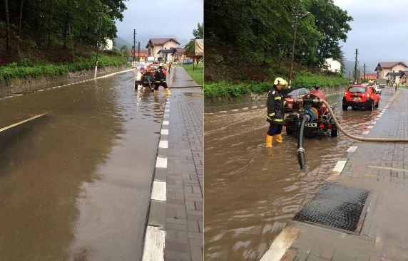 Imaginea articolului Circulaţie îngreunată pe Valea Oltului, din cauza inundaţiilor/ A intervenit un echipaj de pompieri militari   FOTO