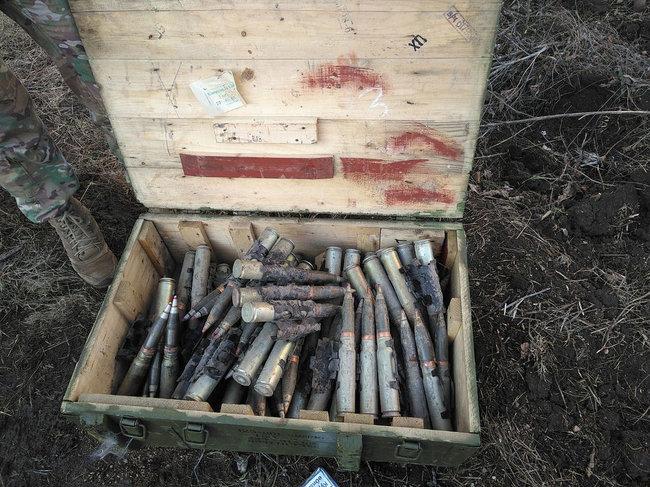 Мины, тротил, снаряды: СБУ выявила на Донетчине два крупных схрона с боеприпасами 01