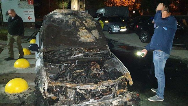 Вночі під Києвом спалили автомобіль програми Схеми: Прослушка, підпал авто, що далі? 03