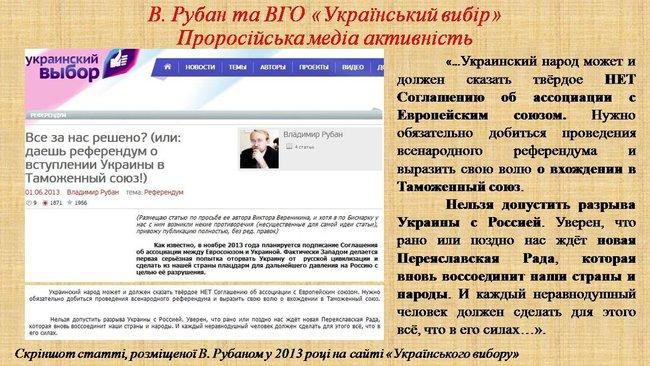 Рубан - российский политический проект: презентация СБУ о деятельности руководителя Офицерского корпуса 06