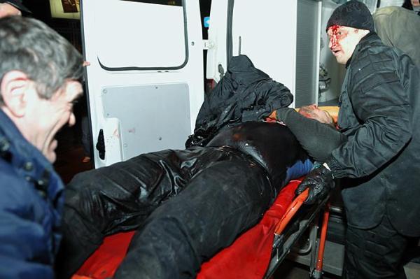 Начало войны на Донбассе 13 марта 2014 года в Донецке был