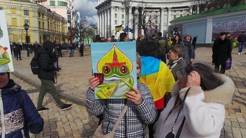 Добровольці зібралися в Києві на Марш патріотів: Ані кроку назад! Припинити політику капітуляції! 01