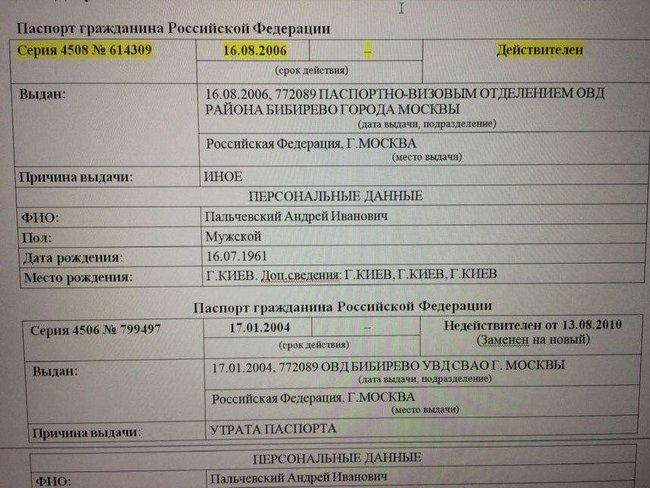 Кандидат у мери Києва Пальчевський є громадянином РФ 02