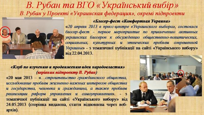 Рубан - российский политический проект: презентация СБУ о деятельности руководителя Офицерского корпуса 13