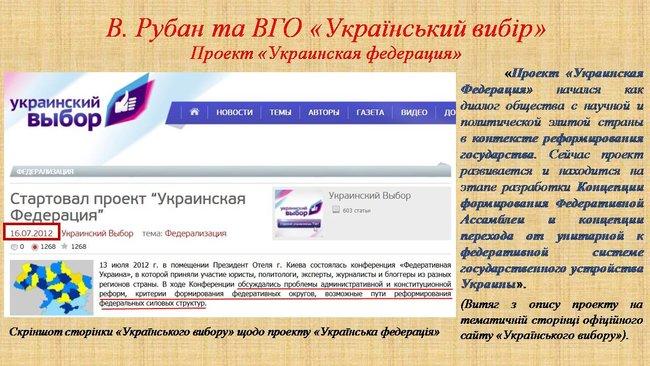 Рубан - российский политический проект: презентация СБУ о деятельности руководителя Офицерского корпуса 07