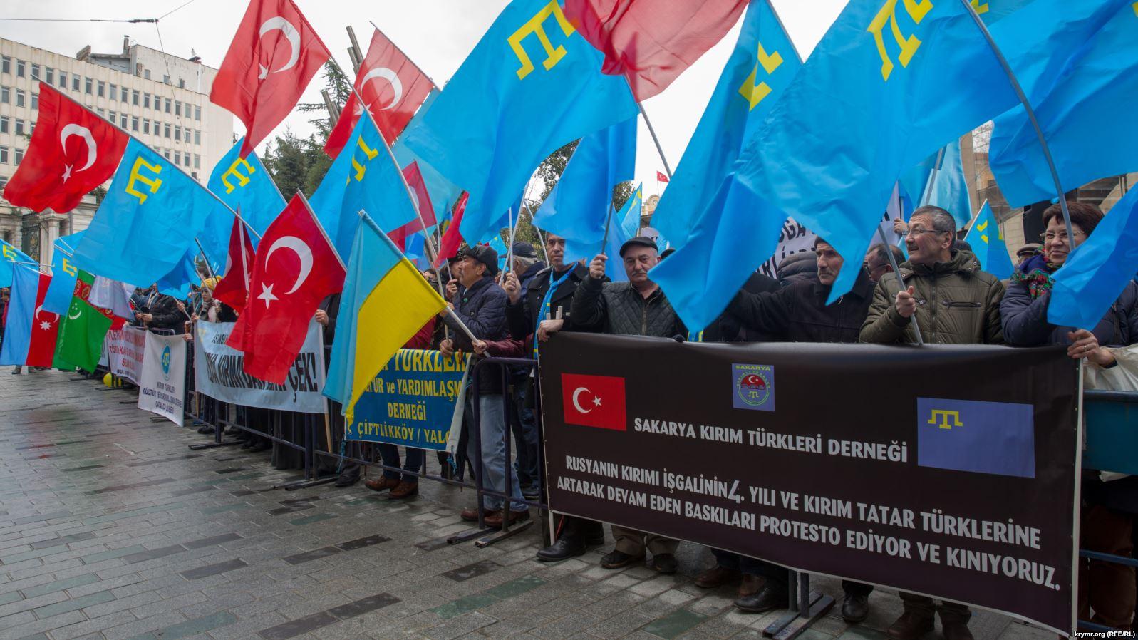 Картинки по запросу акция крімский татар в Стамбуле