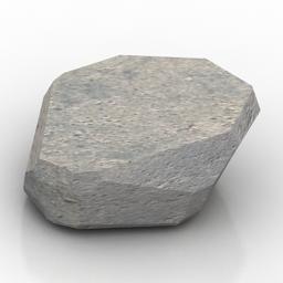 "3D Model Stone | Category: ""Stone paving tiles alpine ... on Granite Models  id=13392"
