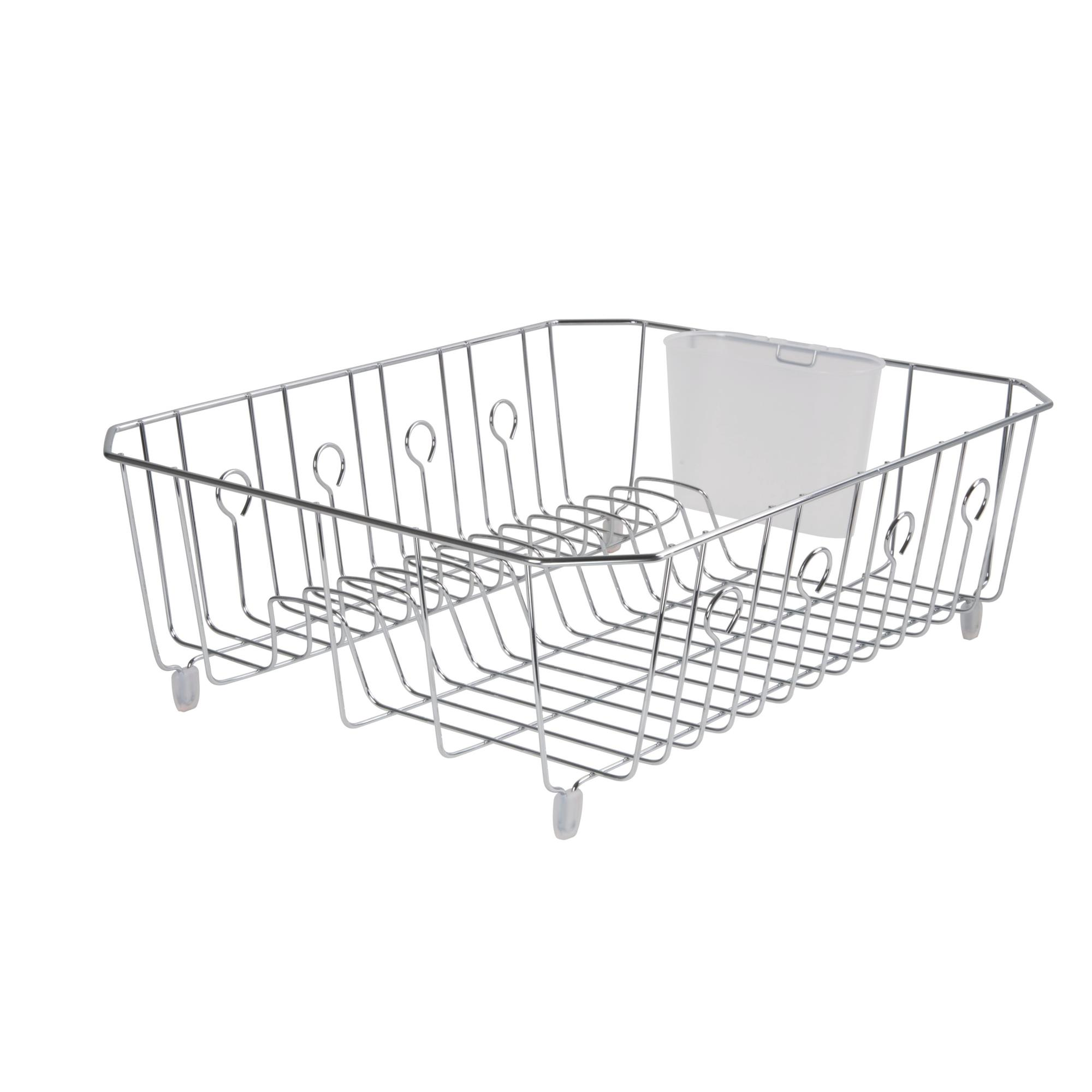rubbermaid large wire dish drying rack with tray