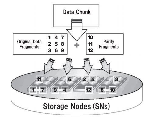 NEC DRD erasure coding on Storage Nodes