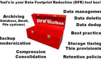 Data protection, data footprint reduction, dfr, dedupe, compress