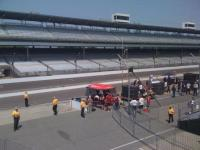 Indy 500 Practice during a speaking event