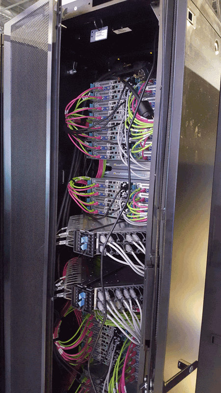 Rear view of EMC Neutrion node